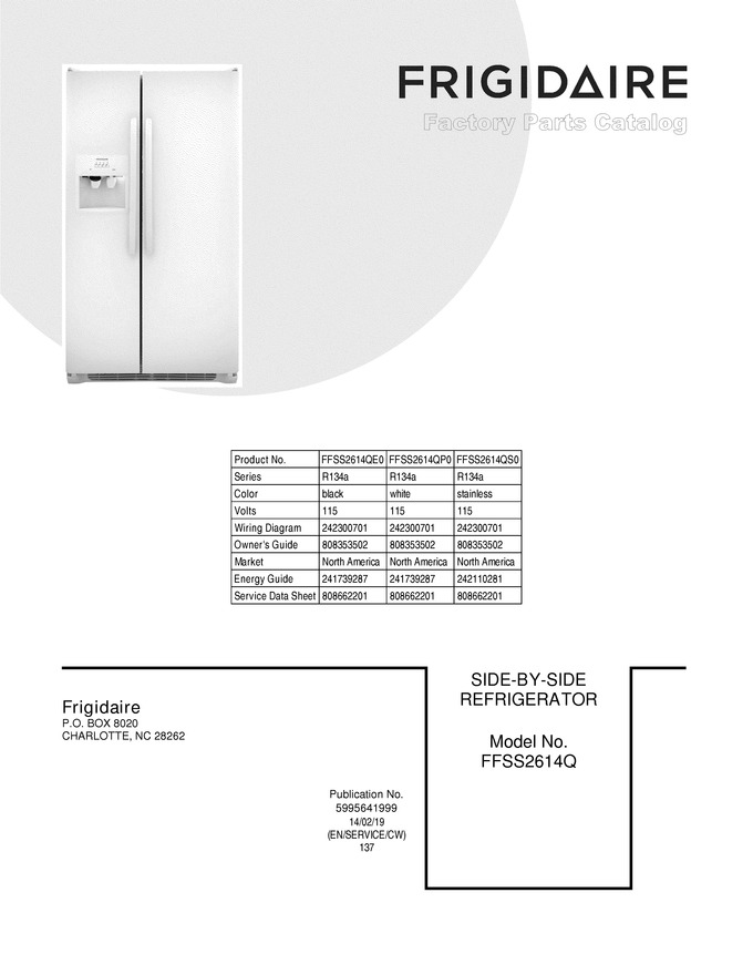 ffss2614qs0 trible\u0027s appliance model lookupdiagram for ffss2614qs0