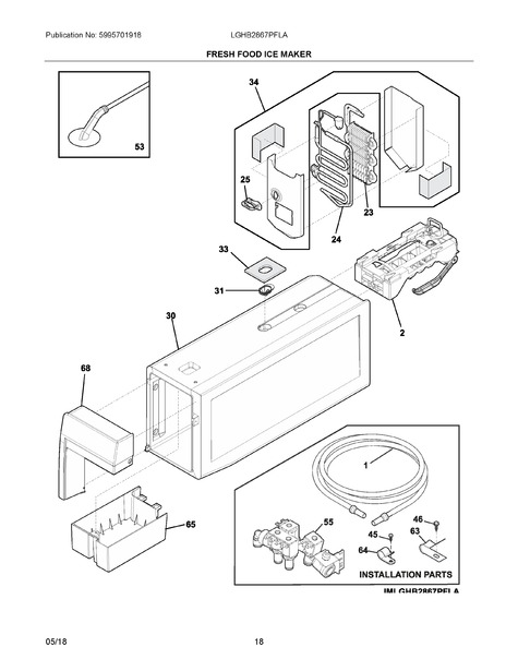 frigidaire valve wiring diagram frigidaire lghb2867pfla parts list trible s  frigidaire lghb2867pfla parts list