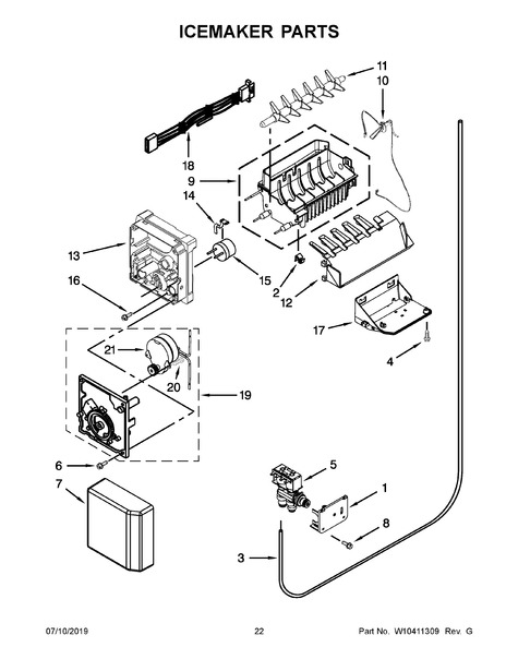 Whirlpool Wsf26c3exb01 Parts List Trible S