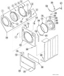 Diagram for Washer Front Panel, Door Assembly And Door Seal
