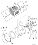 Diagram for Inner Basket, Trunnion, Bearing Housing And Pulley