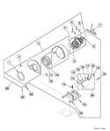 Diagram for Dryer Motor, Blower Fan And Belt