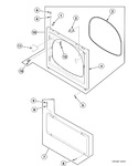 Diagram for Dryer Access Panel, Front Panel And Seal