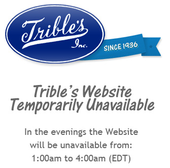 Trible's Website Temporarily Unavailable - In the evening the Website will be unavailable from 1:00am to 4:30am EDT