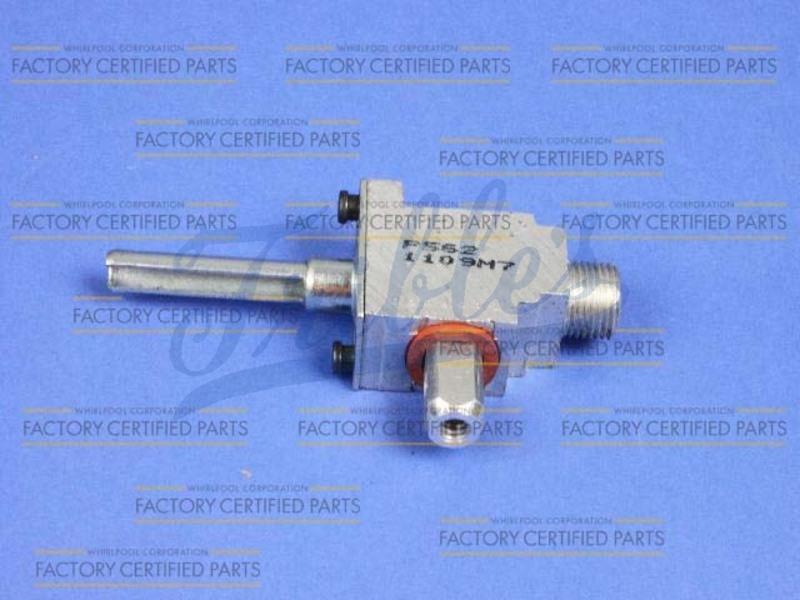 WP7527P02860 Range Surface Burner Orifice Holder 12.5k Right Front